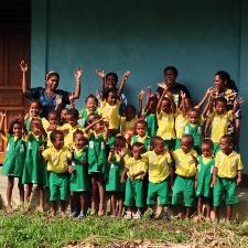 schoolkinderen Papua